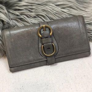Coach Grey legacy Leather Garcia trifold Wallet
